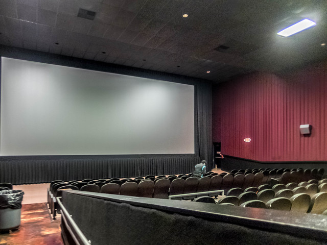 auditorium #13, masking open for scope