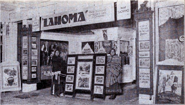 "Lahoma United States  city photo : ... manager William Koch designed this front for ""Lahoma"" in 1920"