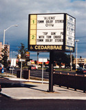Cedarbrae sign, summer 2006