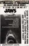 JAWS at Geneva and Auburn Theaters 1975