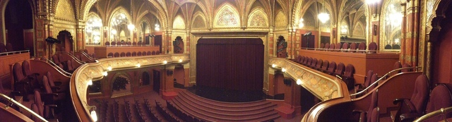 Panoramic shot of the Urania National Filmhouse interior