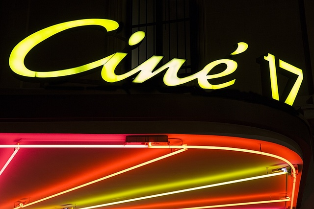 Restored neon sign dating from 1965 was retro fitted on the marquee in Spring 2013