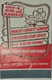 EL RANCHO DRIVE IN THEATRE MATCHBOOK red/white 2