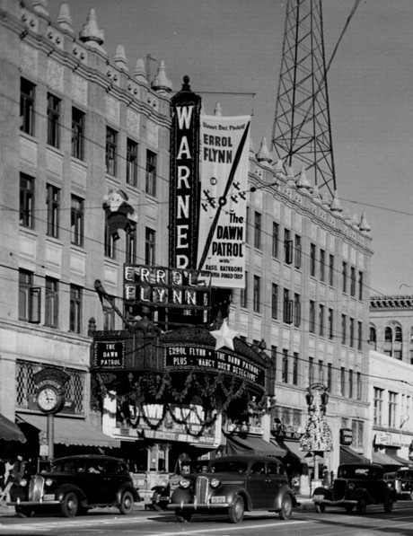 "Warner Hollywood Theatre exterior  ""The Dawn Patrol"" engagement"