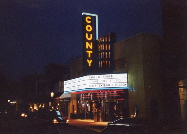 County Theater night time