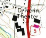 Map showing layout of the various cinema buildings