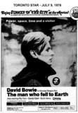 """AD FOR """"THE MAN WHO FELL TO EARTH"""" TOWNE CINEMA AND OTHERS THEATRES"""
