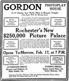 February 16th, 1913 grand opening ad as Gordon