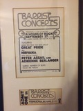 Ticket and ad from concert in 1970's