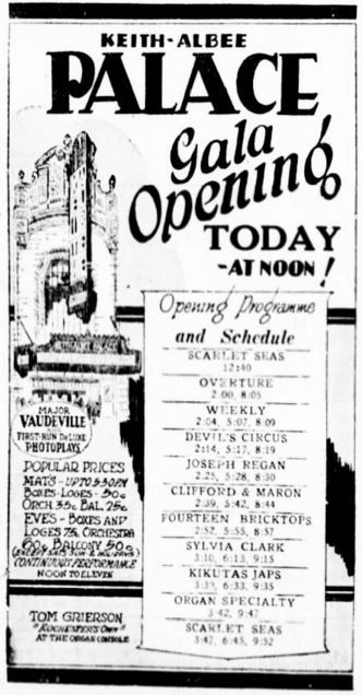December 25th, 1928 grand opening ad