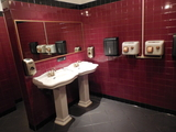 1-22-16 Mens Room with gold faucets!