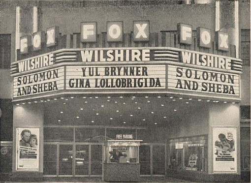"Fox Wilshire Theatre ""Solomon and Sheba"" (1959) engagement"
