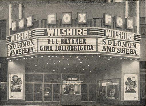 "Fox Wilshire Theatre ""Solomon and Sheba"" (1959) engagement"