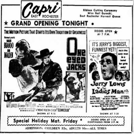 October 12th, 1961 grand opening ad as Capri