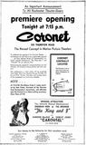 January 30th, 1962 grand opening ad as Coronet