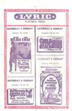 Handbill for the Lyric Theater 1960's