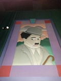 "Regal Cinemas Sawgrass 23 - Auditorium 5 Mural ""Charlie Chaplin"""