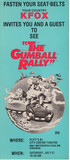 "Plitt City Center Theatre ""The Gumball Rally"" (1976) Advance Radio Preview pass"