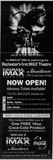 November 4th, 1999 grand opening ad for the IMAX screen
