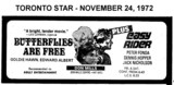 "AD FOR ""BUTTERFLIES ARE FREE & EASY RIDER"" - DON MILLS THEATRE"