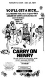 "AD FOR ""CARRY ON HENRY"" - YORK II THEATRE"