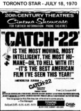 """AD FOR """"CATCH 22"""" - TOWNE CINEMA"""