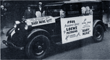 "<p>Mobile ad for the Loew's State in 1928 promising a free ride to the hospital if you laughed too hard at ""Baby Mine""</p>"