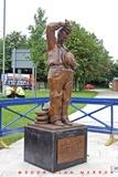 Statue of Stan Laurel at Eden Theatre Site