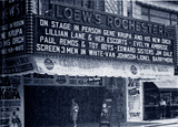 <p>Gene Krupa is on the stage of the Loew's Rochester in 1944.</p>