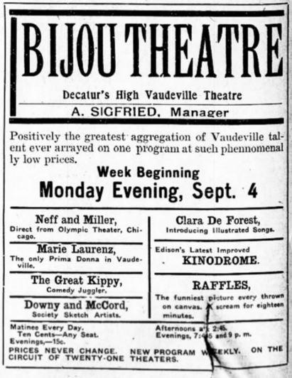 September 3rd, 1905 grand opening ad