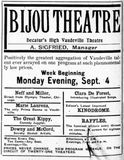 September 3rd, 1905 grand opening ad