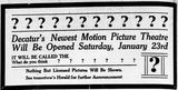 January 22nd, 1915 teaser opening ad