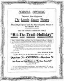 October 22nd, 1916 grand opening ad