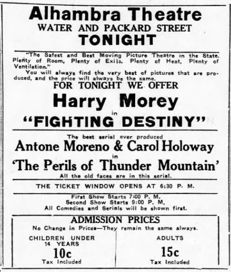 November 6th, 1919 first ad