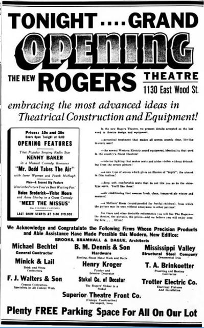 December 3rd, 1937 grand opening ad