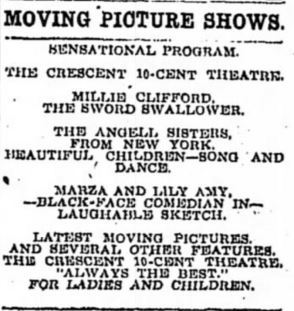 December 6th, 1907 first ad