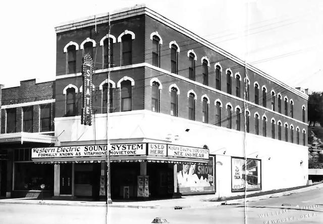 State Theatre  201 W. Main Street, Pawhuska, OK. Before Remodeling..1928.