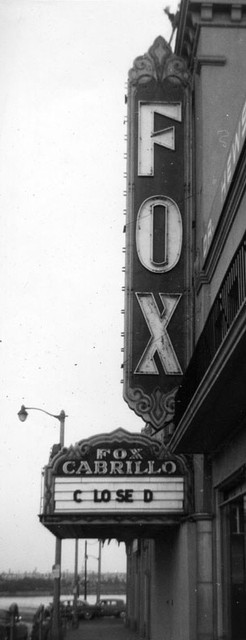 Fox Cabrillo Theatre exterior (closed-1958)