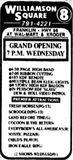 November 23rd, 1988 grand opening ad