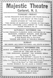 Majestic Theatre Ad 11-17-1916
