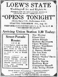 August 21st, 1924 grand opening ad