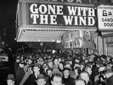 """Gone With The Wind"" premiere 1940, via the Time Travelers - come travel back in time facebook page."
