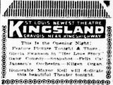 October 22,1924 grand opening ad