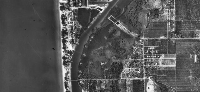 1957 aerial of Indian Rocks