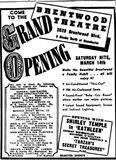 March 13th, 1942 grand opening ad