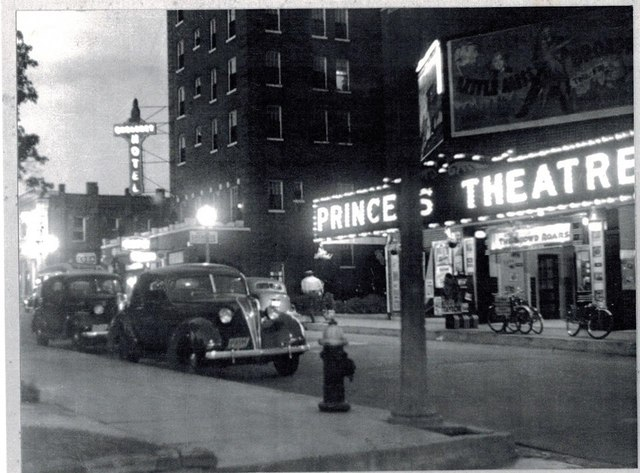 Princess Theater at night