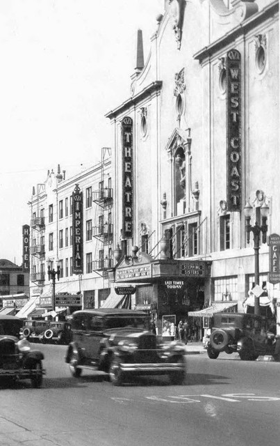 Fox Imperial Theatre along side the neighboring Fox West Coast Theatre