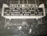 Marquee showing foyer and boxoffice