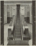 The Hippodrome's unusual lobby escalator.