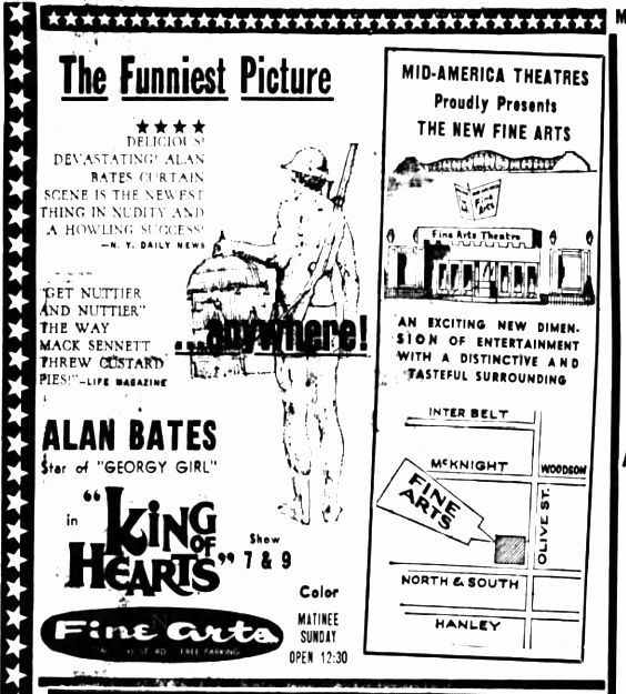 October 6th, 1967 grand opening ad as Fine Arts